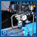 Didtek 화재 안전한 플랜지는 CF8 압축 공기를 넣은 V 유형 공 벨브를 끝낸다