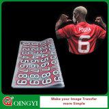 Autoadesivo di vendita caldo di scambio di calore di Qingyi per la maglietta di numero