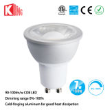 Kingliming AC85-265V alto lumen 7W COB LED GU10, GU10 Bombilla LED regulable