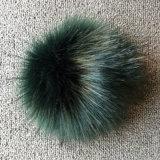 Fascino glassato del sacchetto di modo di Keychain del Pompom della pelliccia di Fox del Faux