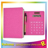 Cuir synthétique calculatrice portable avec stylo et Sticky Notes mémo