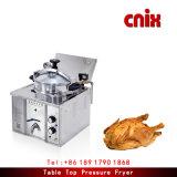 Famillyまたは表の鶏のフライヤーのための小型圧力フライヤー
