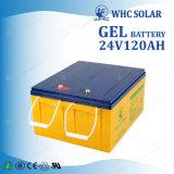 Batterie rechargeable de cycle profond de la mémoire 24V 120ah d'énergie solaire