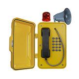 角が付いている産業ページングの電話、鉱山の安全電話、トンネルの電話およびスピーカー