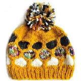 Chapéu do inverno da menina com flor (JRK155)