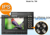 """Enarbolando el foco IPS artesonar """" monitor de la cámara 7 para la difusión"""