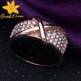 Stsr-16113016 Rose Or avec diamants en argent sterling 925 bijoux