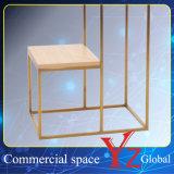 Шкаф промотирования шкафа выставки шкафа вешалки полки индикации стойки индикации нержавеющей стали стеллажа для выставки товаров (YZ161704)