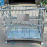 Gaiola empilhada Foldable industrial do Stillage do engranzamento de fio de aço do armazenamento do armazém