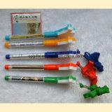 Crayon lecteur en plastique de promotion avec le papier de déroulement