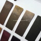 Cuero Polished de la PU del nuevo diseño para los zapatos que hacen Hx-S1714