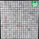 Mattonelle di mosaico di marmo bianche naturali di Carrara per la pavimentazione della stanza da bagno e della cucina