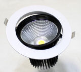 Rond encastrer l'ÉPI réglable rotatif DEL Downlighting de Dimmable 6W de plafond