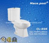 Gabinetto di ceramica delle tolette a due pezzi sanitarie degli articoli della stanza da bagno (CL-020)
