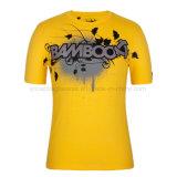 100%Cotton方法人の円形の首のティーワイシャツ、Tシャツ