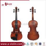 Clássico médio Flamed Maple Wholesale Violin with Case (VM110H)