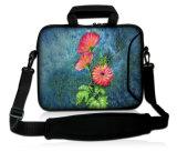 """Purpur-Blumen 15 """" 15.4 """" 15.6 """" Laptop tragen Beutel-Hülsen-Kasten-Beutel mit Schultergurt"""