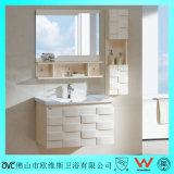 Vaidade sanitária moderna Floor-Mounted do banheiro dos mercadorias da madeira contínua do estilo