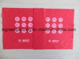 Ткань чистки объектива Microfiber красного цвета с вырезыванием белой печати логоса цвета прямым