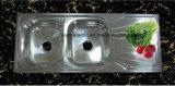 Дешевая раковина кухни нержавеющей стали шара двойника цены S-1200500