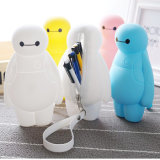 Cute Baymax Design Soft Silicone Pencil Case pour étudiants