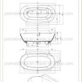 Nueva bañera moderna de los muebles del cuarto de baño de la alta calidad (PB1076N)