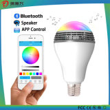 Luces alejadas del LED con el altavoz de Bluetooth