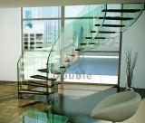 Escaleras de cristal curvadas modernas/pasamano de cristal curvado