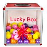 """10 """"宝くじのためのアクリルの小型の未組立の幸運なボックス"""