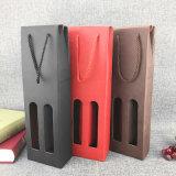 Foldable 상자를 포장하는 휴대용 Kraft 종이 술병을 각인하는 로고