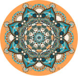 Таможня напечатанная вокруг циновки Deco ковра циновки раздумья циновки йоги
