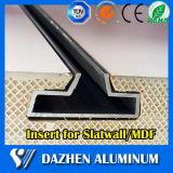 Profilo di alluminio di alluminio dell'espulsione di Slatwall dell'inserto in testa alle vendite del MDF