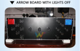 Tarjeta montada carro de la luz de la flecha del tráfico de la seguridad en carretera del aluminio 1200*400m m