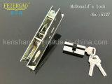 5127 Cerradura de puerta de aluminio de alta clase, cerradura de puerta deslizante / bloqueo de cilindro
