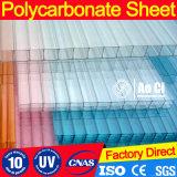 alta qualità Lago-Blu di 6mm per lo strato di Polycarbnate della Gemellare-Parete di Rooflights