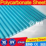 Folha de telhado curvado em estufa de policarbonato