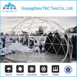屋外アルミニウム構造キャンプのための白いPVC測地線ドームのテント