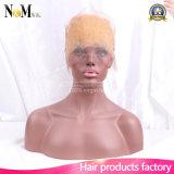 Fechamento frontal de 360 laços com cabelo do bebê, Frontal louro do cabelo reto da cor
