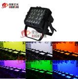 Indicatore luminoso impermeabile della lavata della parete dell'indicatore luminoso LED di effetto di PARITÀ della fase di 20PCS*15W Rgbwauv 6in1 LED