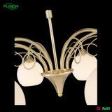 Lampada di vetro bianca antica del lampadario a bracci del soffitto per la casa