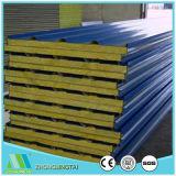 Panneau en acier en métal de sandwich à fibre de verre de couleur de prix usine pour le mur et le toit préfabriqués