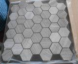 Nouvelle mosaïque de marbre hexagonal de bois magnifique