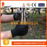 Gant de travail en sécurité en caoutchouc noir Ddsafety 2017