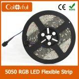최고 밝은 유연한 DC12V SMD5050 LED 지구 빛