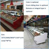 Gebogenes Glas kühlte Dienen-Über Nahrungsmittelkostenzählern für Supermarkt
