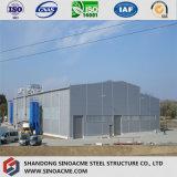 Magazzino chiaro galvanizzato prefabbricato della costruzione del blocco per grafici d'acciaio del TUFFO caldo