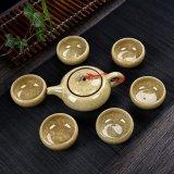 China, precio de fábrica más caliente colorida del hielo Grieta del juego de té de porcelana