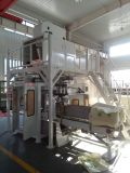 Mispel-Verpackungsmaschine mit Förderanlage und Nähmaschine