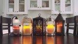 LED de luz del té, ámbar amarillo parpadeo del bulbo, Long batería de larga Operado eléctrico vela votiva, realista y brillante Faux Candelitas Dia 1.4