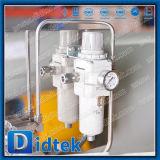 Нефтяной Промышленности Didtek углеродистой стали 2PC на цапфы фланцевый шаровой клапан с помощью пневматического привода